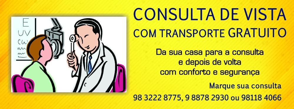 070e602879efe Consulta de vista com transporte gratuito - Óticas Mercadótica.